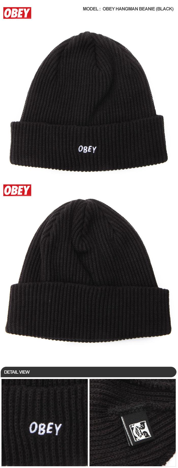 오베이(OBEY) HANGMAN BEANIE (BLACK)  100030102-BLK  - 39 ab16ee95571