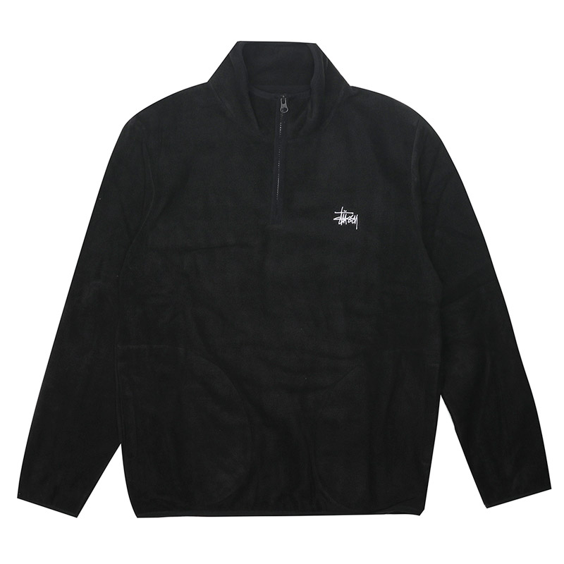 [스투시] STUSSY POLAR FLEECE HALF ZIP (BLACK) [118287-BLAC]