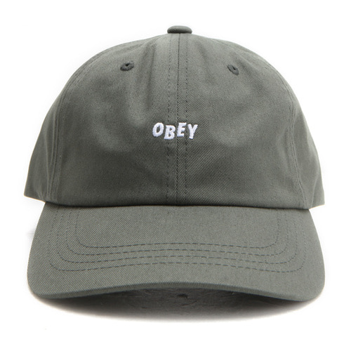 [오베이] OBEY JUMBLE BAR III 6 PANEL HAT (ARMY) [100580071-ARM]